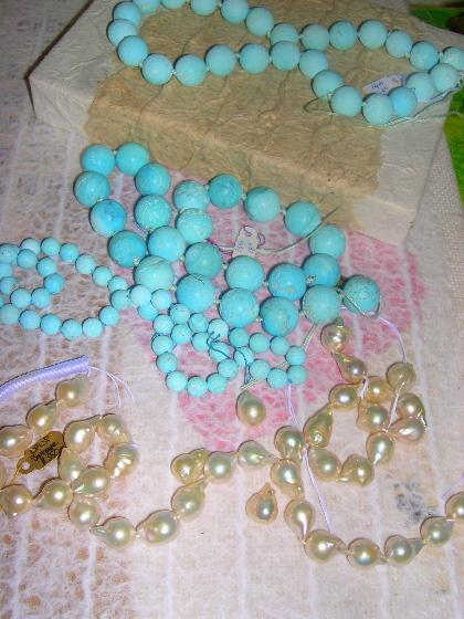 Turq & pearls