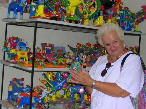 Joan shopping