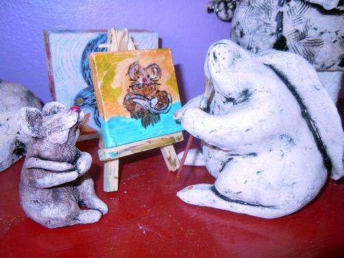Babette paints her friend