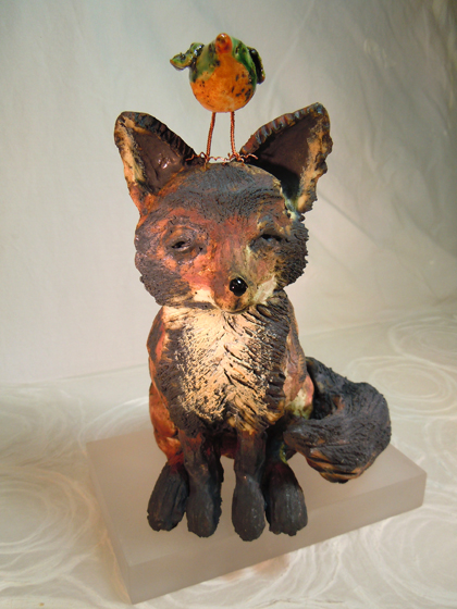 Fox sculpture
